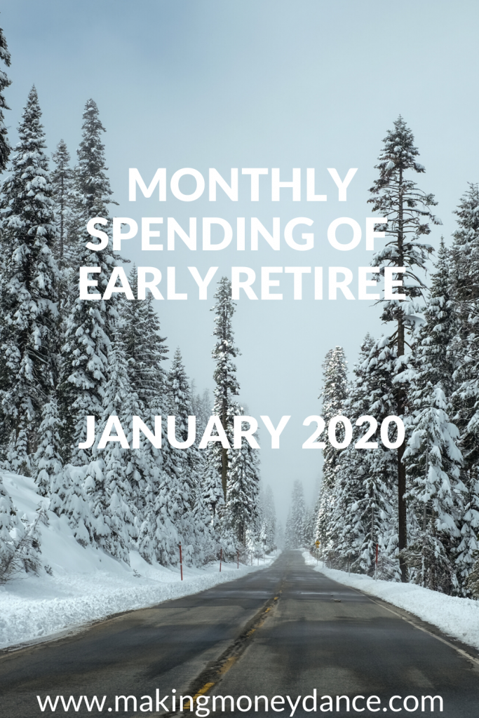 The Monthly Expenses of an Early Retiree - January 2020